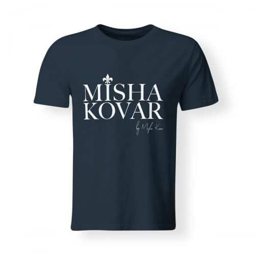 Misha Kovar T-Shirt Herren Logo navy