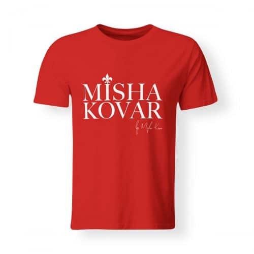 Misha Kovar T-Shirt Herren Logo rot