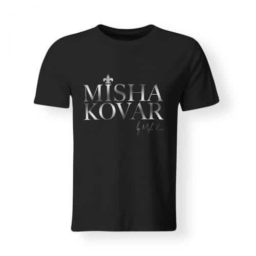 Misha Kovar T-Shirt Herren Logo schwarz