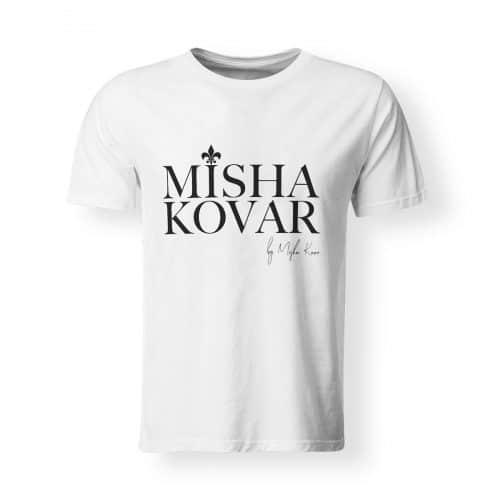 Misha Kovar T-Shirt Herren Logo weiß