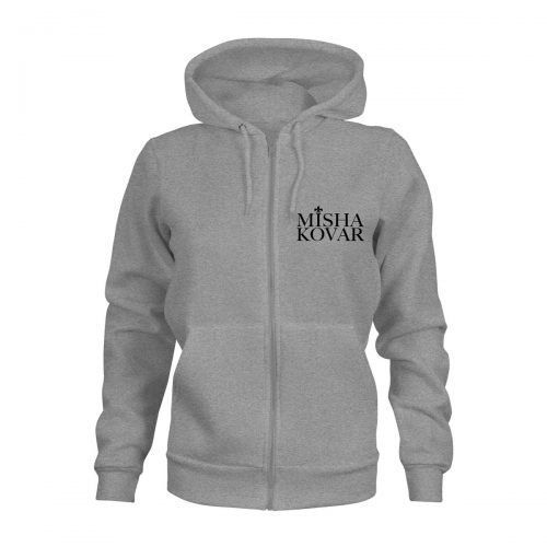 ZIP Hoodie Damen Misha Kovar Logo grau