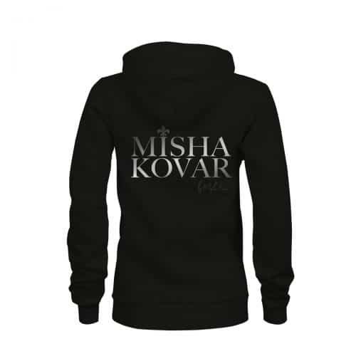 ZIP Hoodie Damen Misha Kovar Logo schwarz