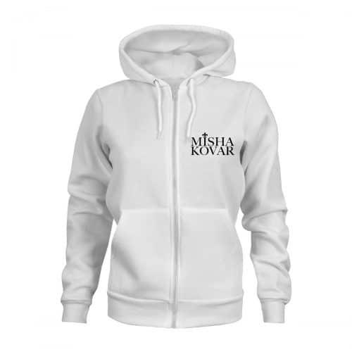 ZIP Hoodie Damen Misha Kovar Logo weiß