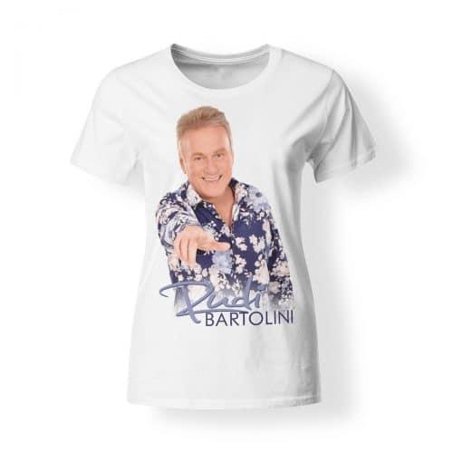 T-Shirt Damen Rudi Bartolini Foto blau weiss