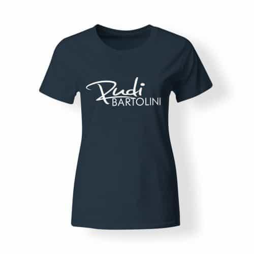 T-Shirt Damen Rudi Bartolini Logo navy