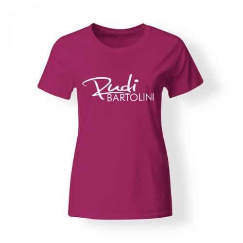 T-Shirt Damen Rudi Bartolini Logo pink