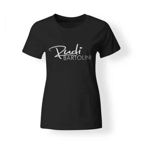 T-Shirt Damen Rudi Bartolini Logo schwarz