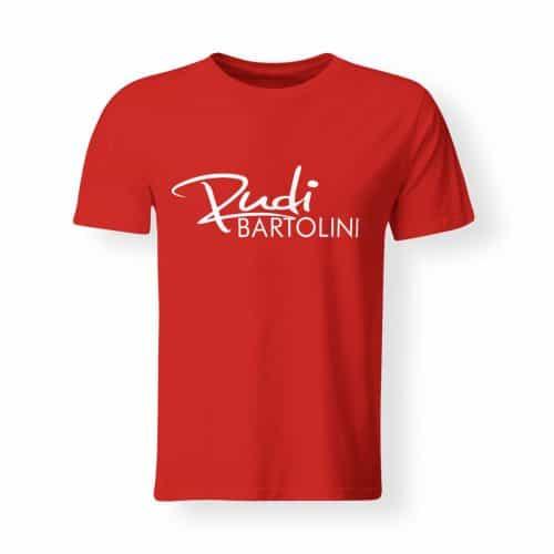 T-Shirt Rudi Bartolini Logo rot