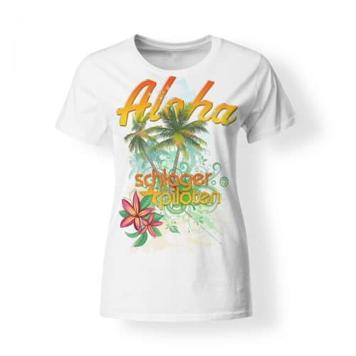 T-Shirt Damen Schlagerpiloten Aloha