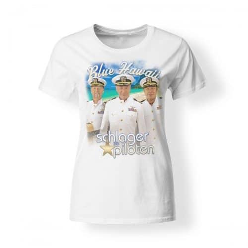 T-Shirt Schlagerpiloten Damen Blue Hawaii